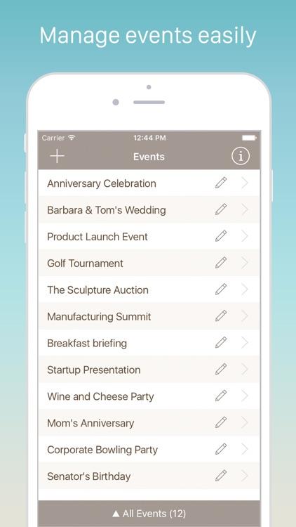 Guest List Organizer Pro screenshot-3