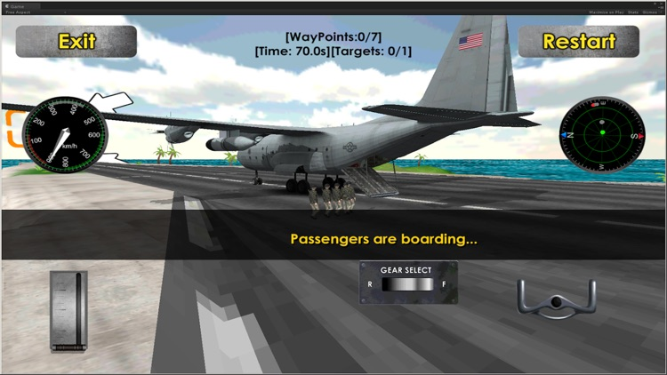Flight Simulator Transporter Airplane Games screenshot-3