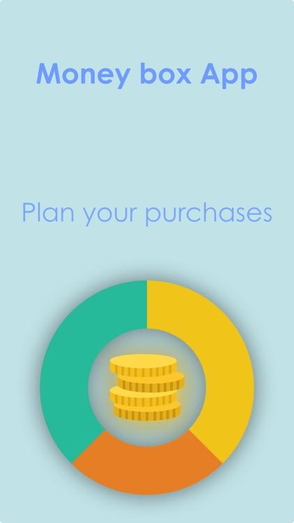 Money box App - Plan purchases
