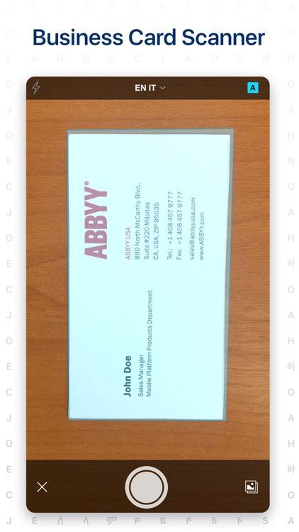 Business Card Scanner app screenshot-0