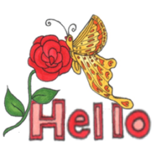 Chat With Flower And Butterfly