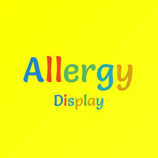 Allergy Display: Food Allergy