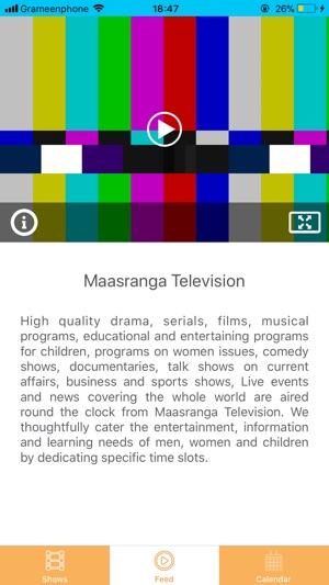 Maasranga Television on the App Store