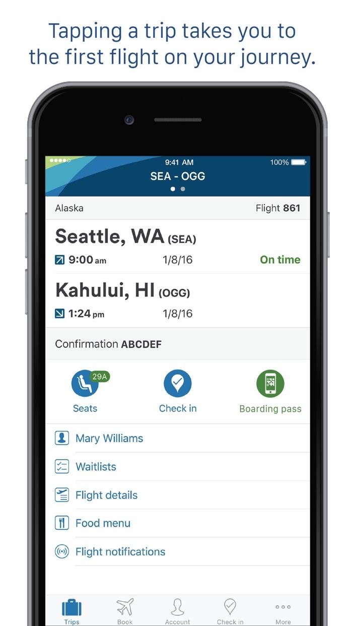 Alaska Airlines Screenshot