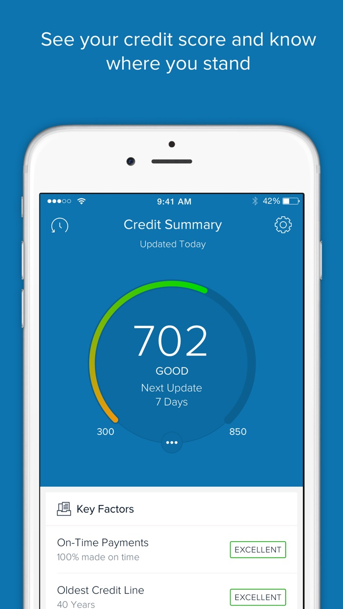 Capital One CreditWise - Credit score and report Screenshot