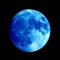 Full Moon shows the current moon phase and current moon sign astrology chart in a beautiful user interface