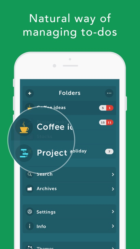 App screenshot for Orderly - Simple to-do lists