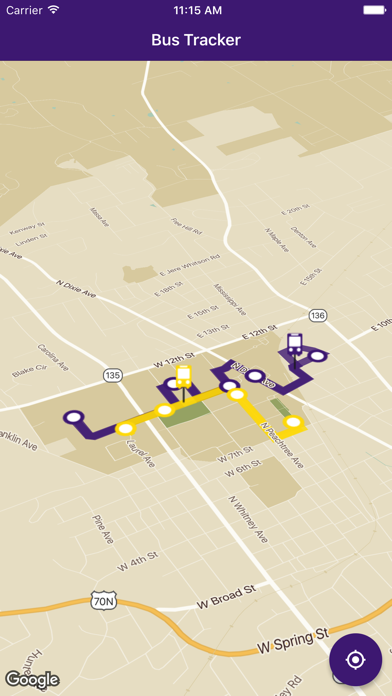 TN Tech Bus Tracker
