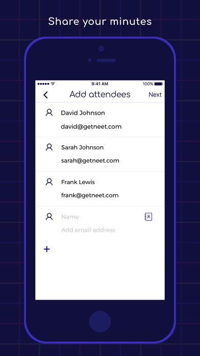 Neet Meeting Minutes Screenshots