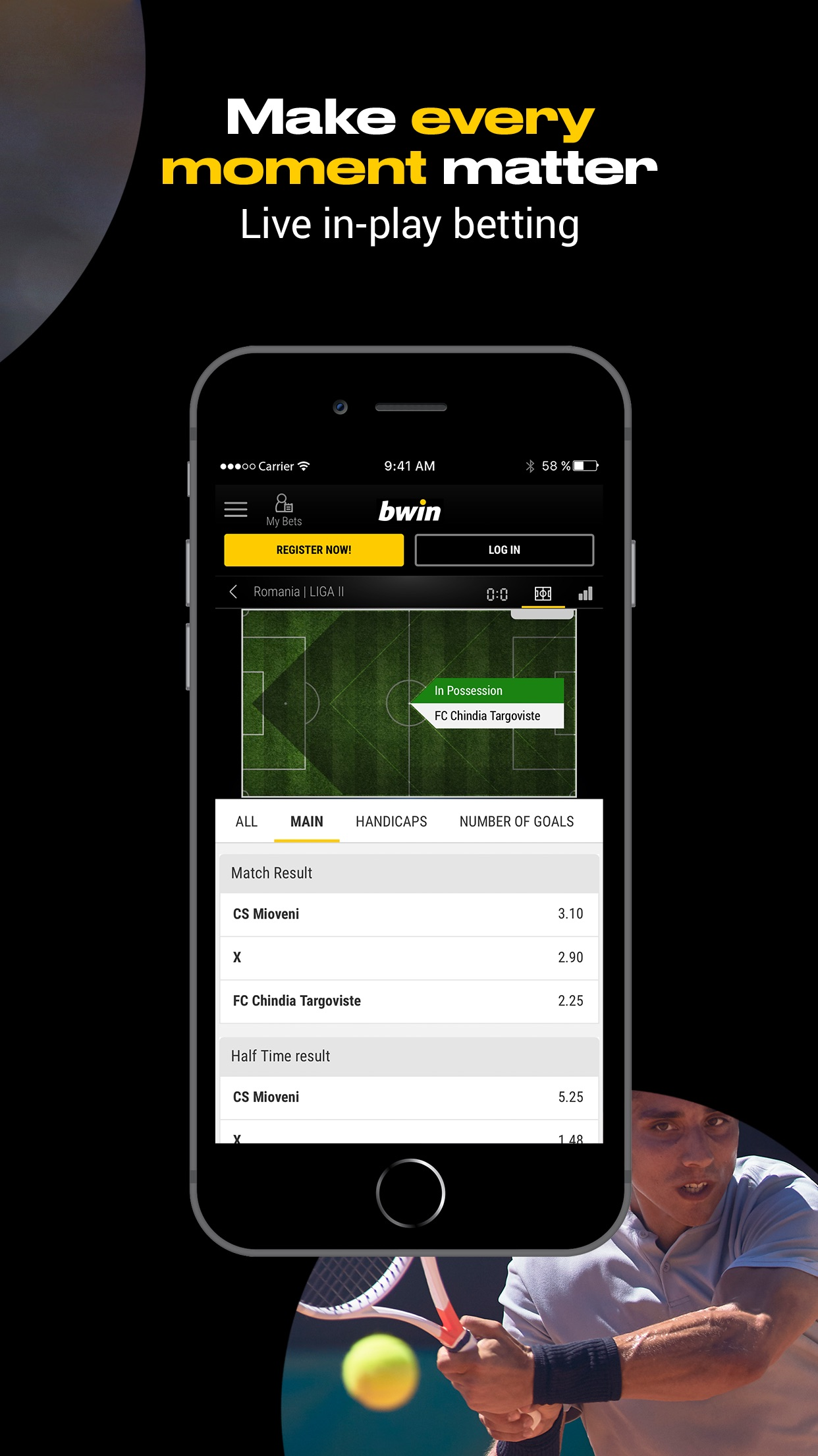 bwin Sports Screenshot