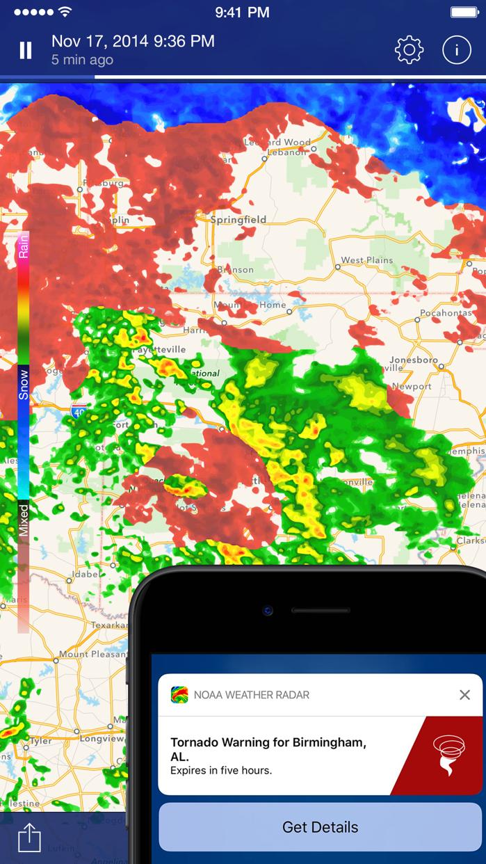 NOAA Weather Radar - Forecast Screenshot
