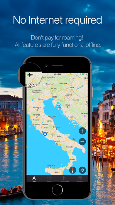 Italy Offline GPS Navigation Screenshot