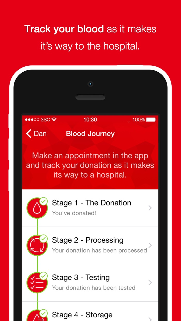 Blood Donor American Red Cross Screenshot