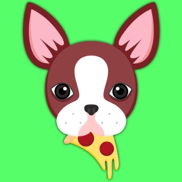 Animated Red Boston Terrier