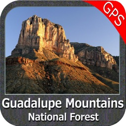 Guadalupe Mountains NP GPS Map Navigator