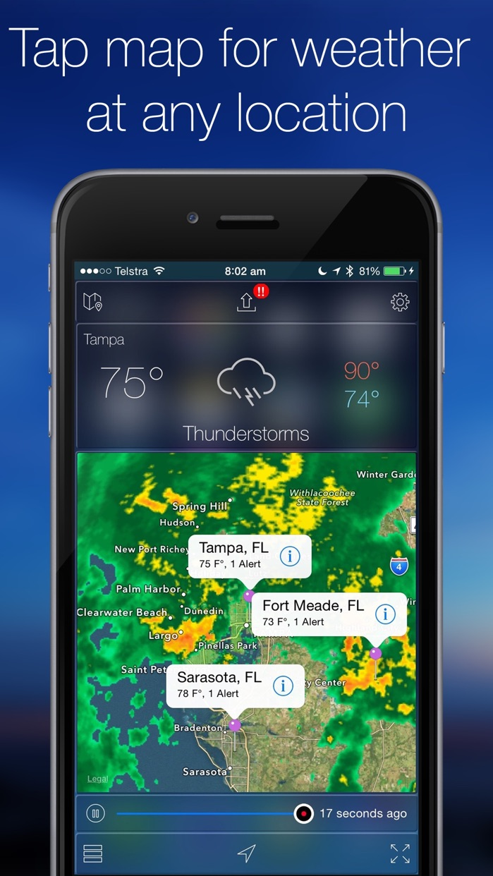 Weather Radar Map Live Screenshot