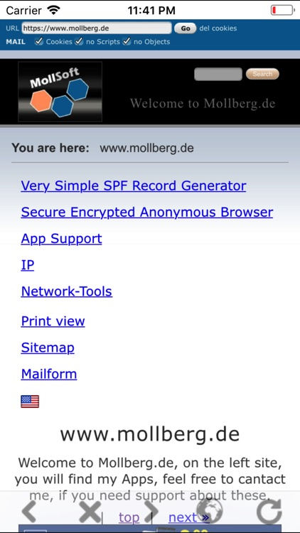Secure Encrypted Browser