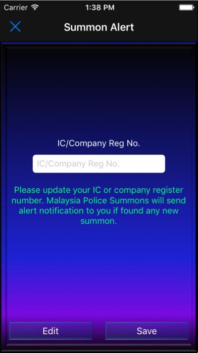 Malaysia Police Summons screenshot four