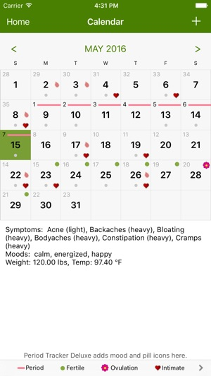 period tracker by gp apps on the app store
