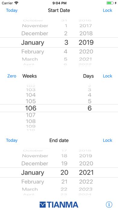 Weeks - Lead time planner screenshot one