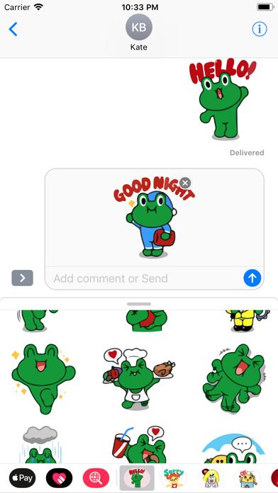 Grino is Witty Sticker Pack IM screenshot two
