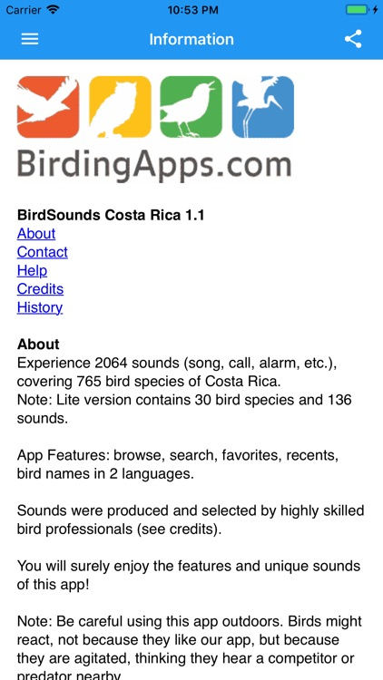 BirdSounds Costa Rica screenshot-3
