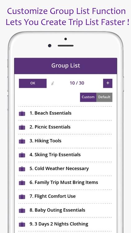 Travel Packing & To Do List screenshot-3