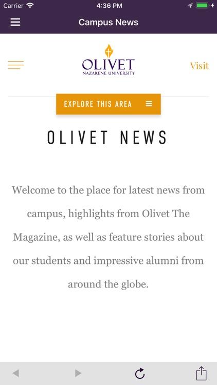 Olivet Campus Map.Olivet By Olivet Nazarene University