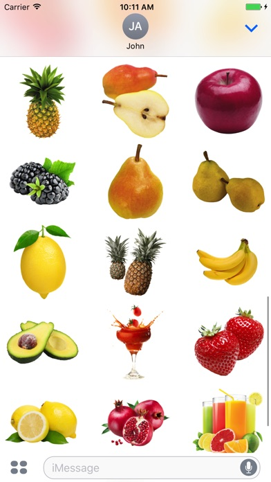 Best Fruits for iMessage screenshot 2