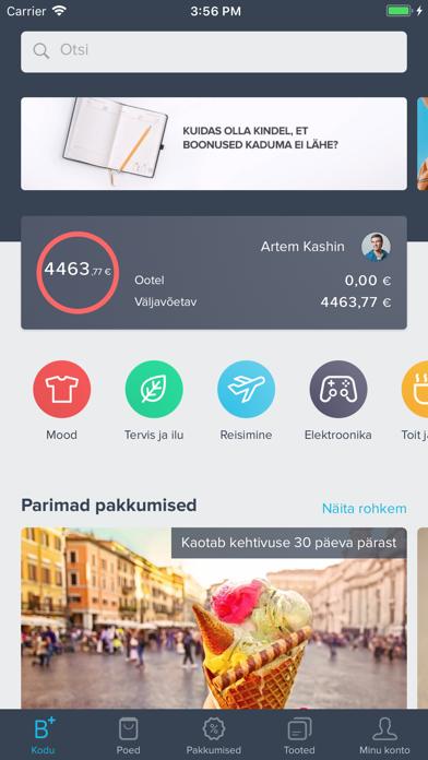 Bonusway Eesti: Cashback app screenshot one