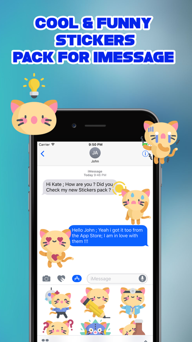 Sassy The Cat Emoji Stickers screenshot two