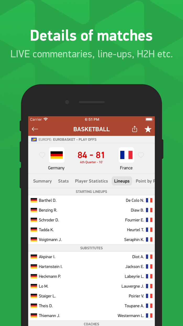 FlashScore Screenshot