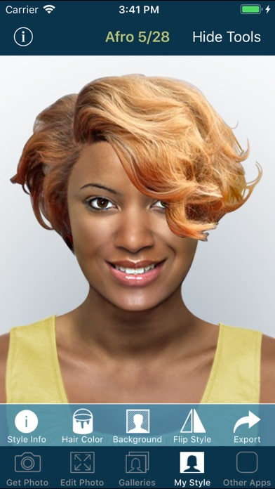 Screenshot for Hairstyle Try On PRO in Jordan App Store