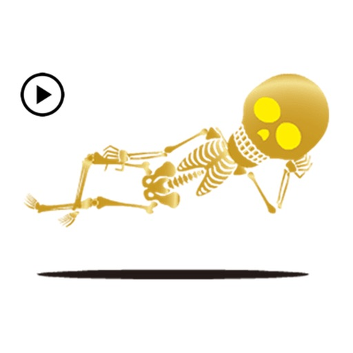 Animated Funny Golden Skeleton