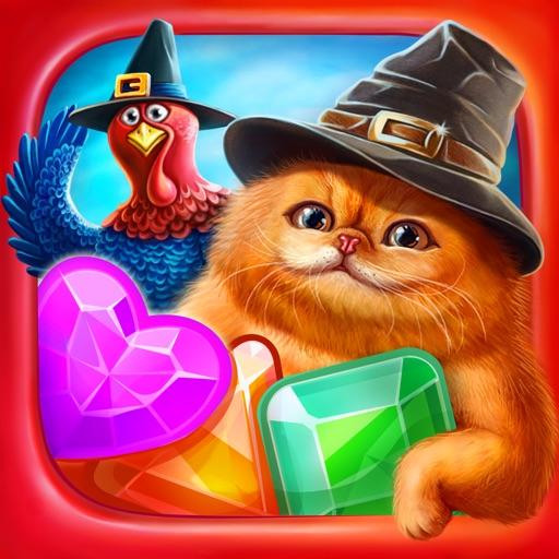 Волшебные Коты:Три в ряд