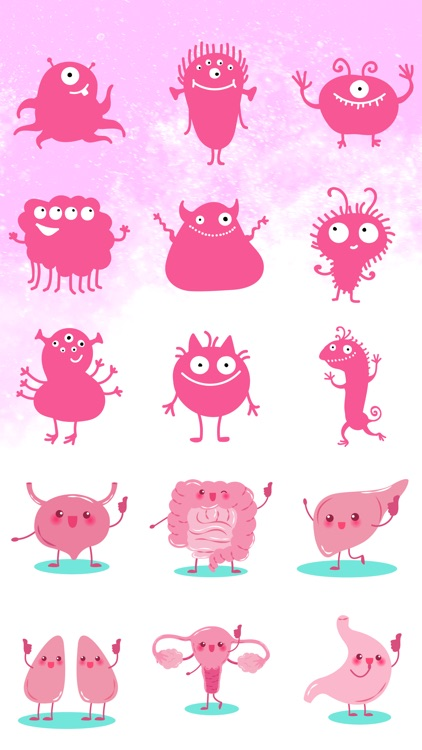 Cute Monster Stickers and Emojis
