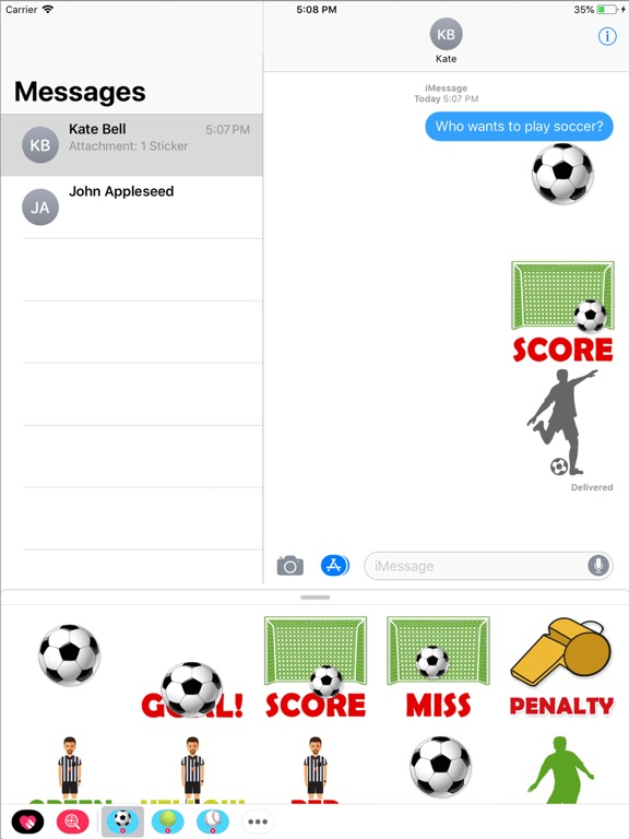 Animated Soccer Stickers screenshot 3