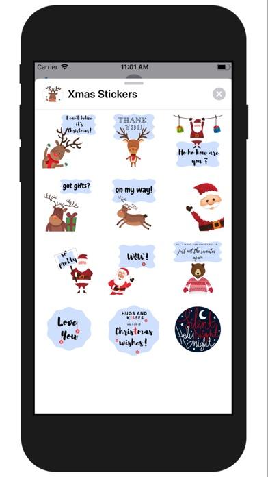 Xmas Funny Stickers screenshot two