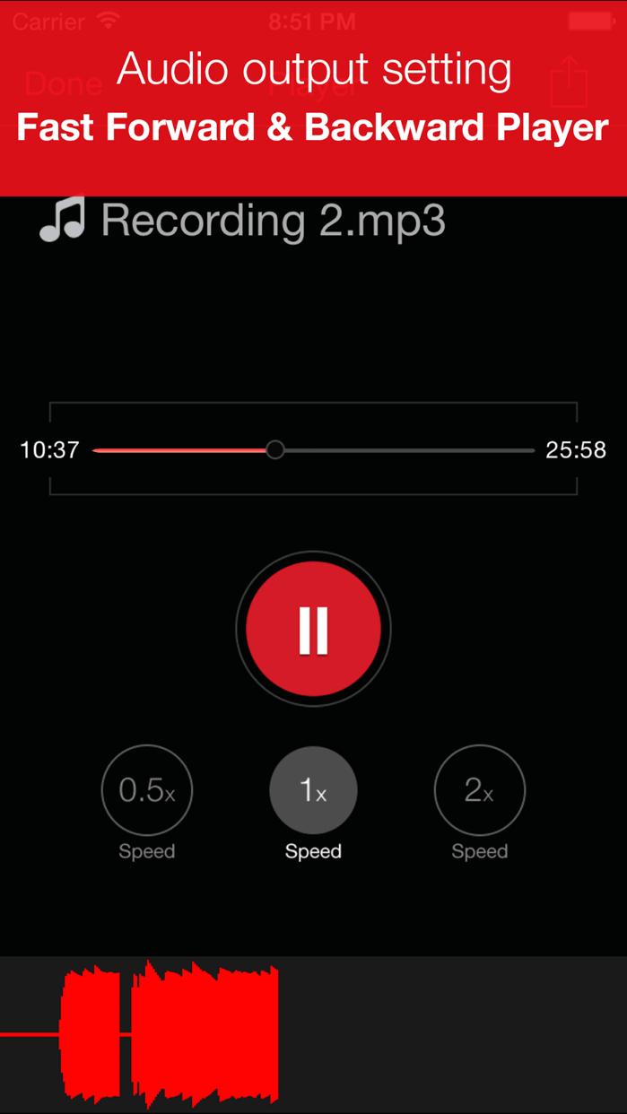 Recorder Plus : Voice Recorder Screenshot