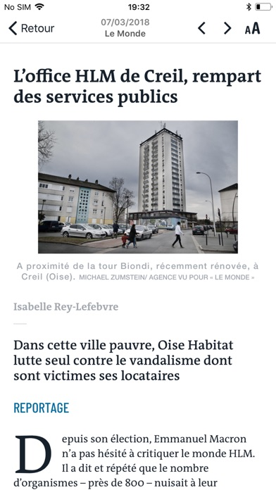Journal Le Monde review screenshots