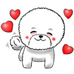 Bichon Frise Dog Sticker