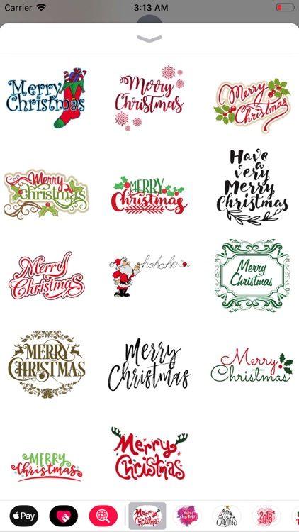 Merry Christmas Sticker Pack