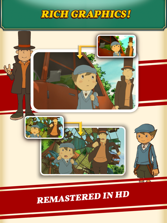 Layton: Curious Village in HD Screenshots