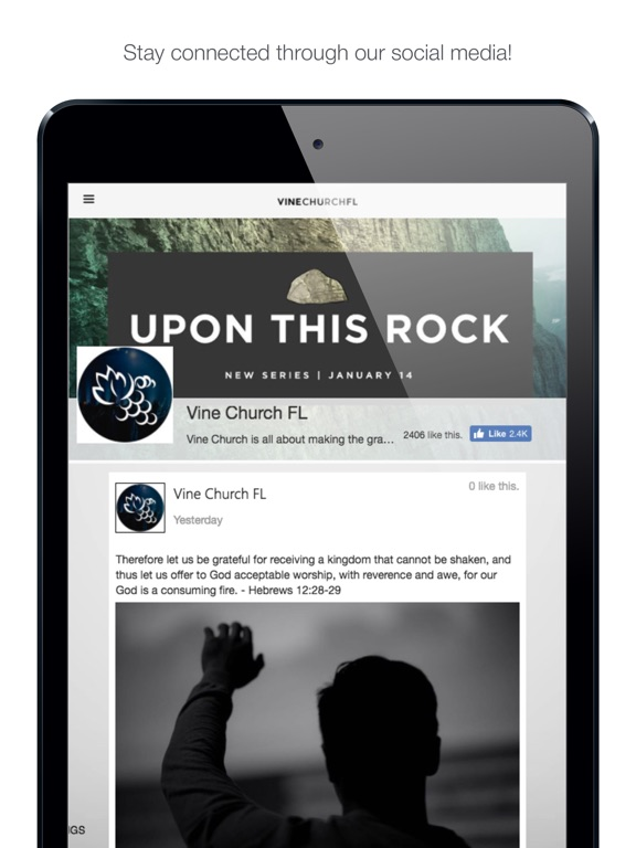 Screenshot #3 for Vine Church FL