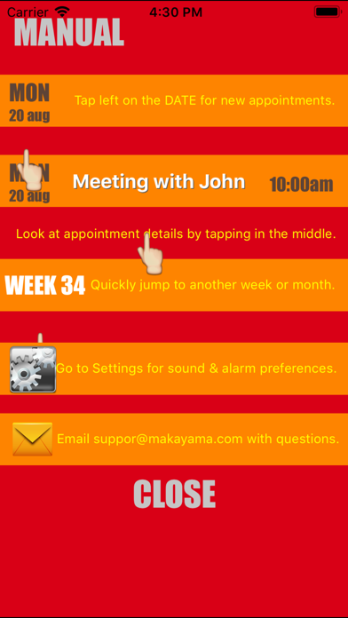 Weekly Calendar Agenda Planner screenshot three