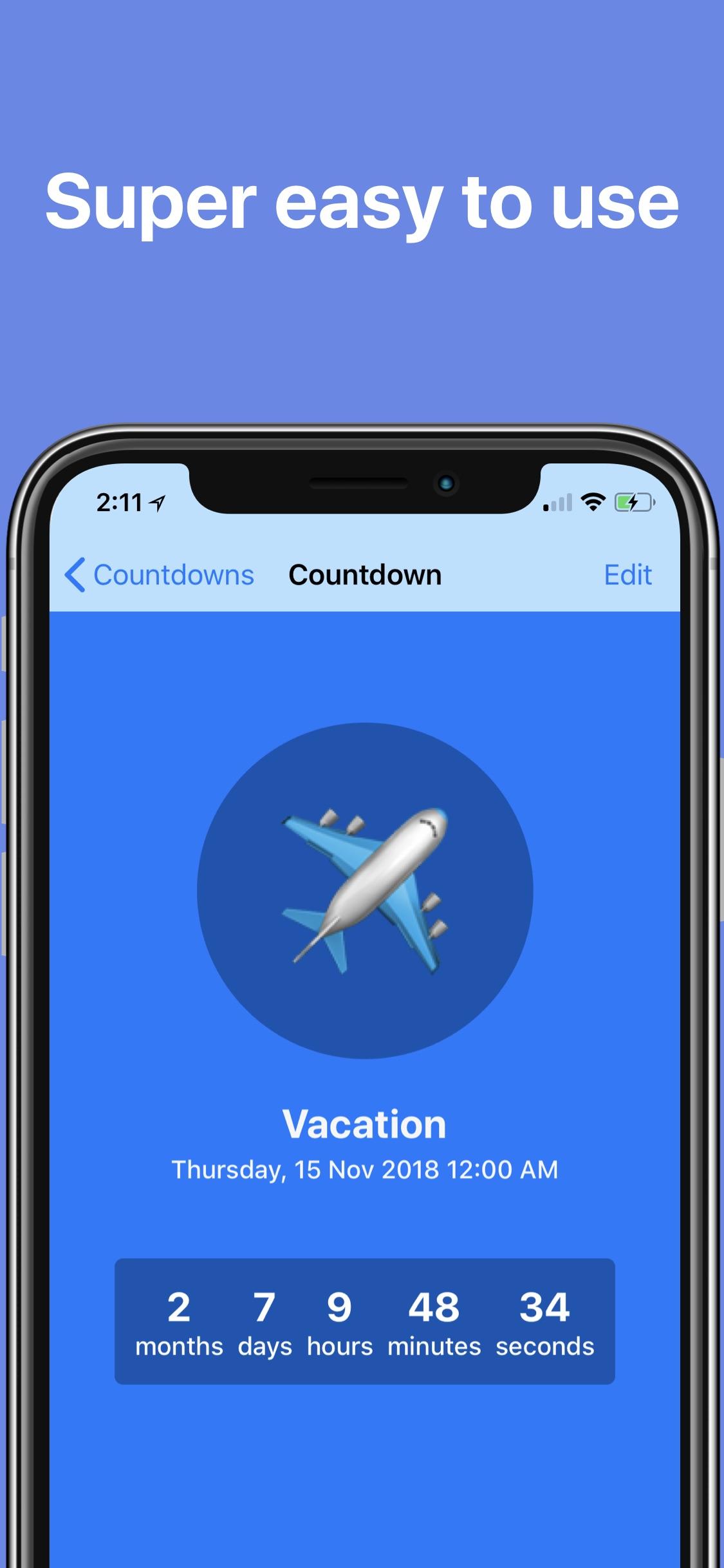 Screenshot do app The Countdown App
