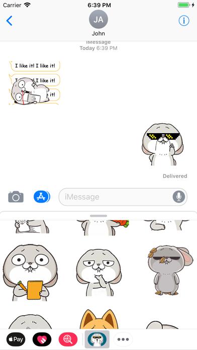 Rabbit Boss Animated Stickers screenshot three