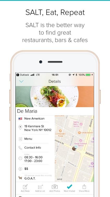 SALT - Find Better Restaurants