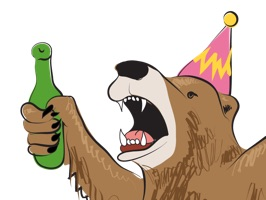 Free version of the Party Bear Sticker Pack by acclaimed animal artist Will Eskridge