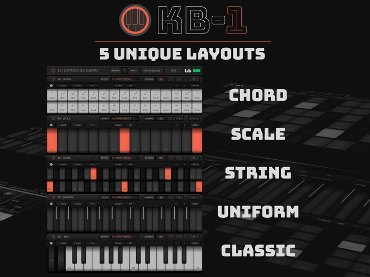 KB-1 MIDI Keyboard screenshot-2